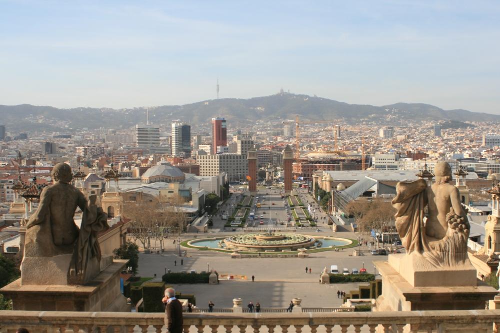 Barcelona La plaza espanya Una plaza En La Mas bonita ciudad Del mundo