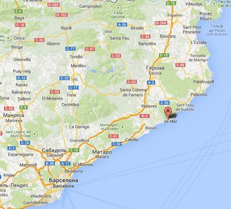 Жирона, Cala Llevado, Km. 18, Carretera de Lloret de Mar a Tossa de Mar.jpg