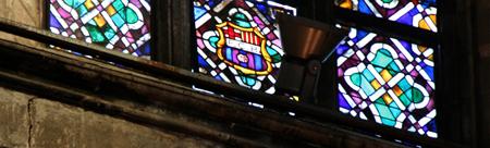 барселона достопримечательности, Витражное окно с гербом «Барсы».jpg