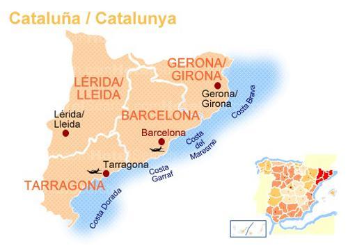 Курорты испании коста бланка карта испании
