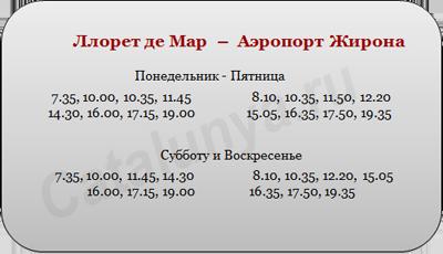 расписание автобусов, лорет де мар аэропорт жирона.png